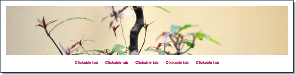 Imbalance header tabs out