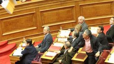 Athens, inside parliament, 12 February 2012