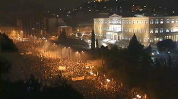 Athens, outside parliament, 12 February 2012