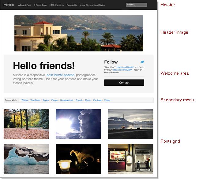 Mixfolio homepage
